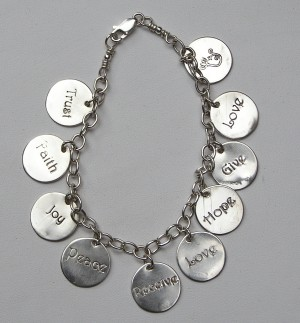 Faith, Hope, Peace, Love Bracelet
